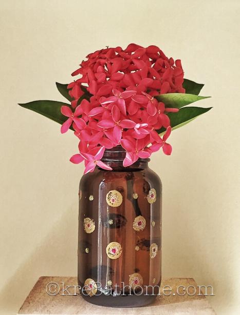 Amber-Bottle-Flower-Vase